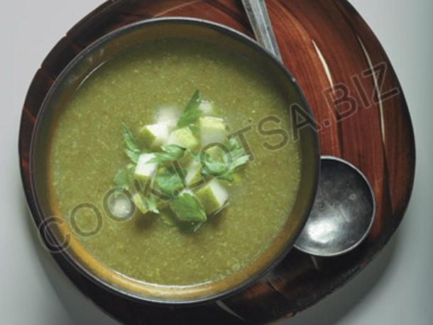 Суп биск из сельдерея и груш