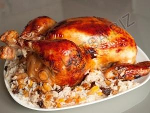 Цыплята фаршированные рисом