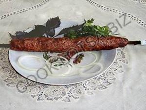 Люля-кебаб из баранины с зеленью