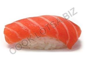 Суши (сякэ) с лососем