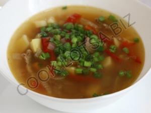 Быстрый вкусный суп с мясом