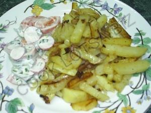 Картошка жареная с салом