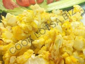 Цветная капуста с яйцом